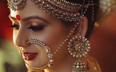 Bridal Makeup in Kidwaipuri